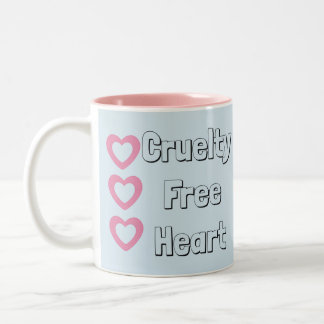 Cruelty Free Vegan/Vegetarian Blue Mug