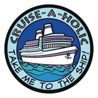 Cruise-A-Holic custom invitations