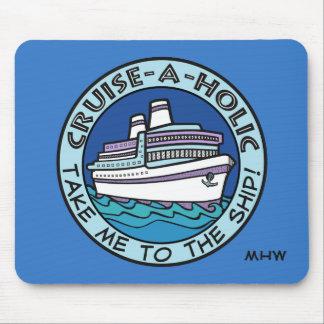 Cruise-A-Holic custom monogram mousepad