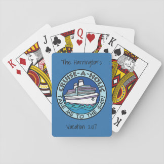 Cruise-A-Holic custom text playing cards