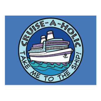 Cruise-A-Holic postcard