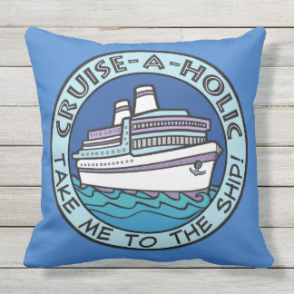 Cruise-A-Holic throw pillow