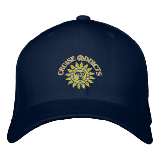 Cruise Addicts Embroidered Navy Flex-Fit Cap