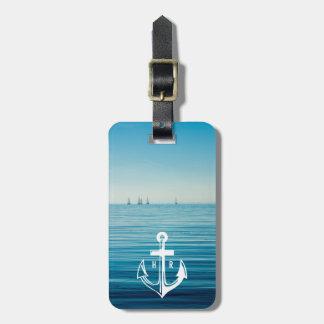 Cruise Anchor Monogram Travel Luggage Tag