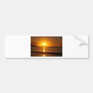 Cruise at sunset bumper sticker