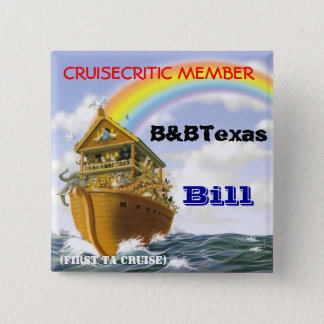 Cruise badge 2 inch square button