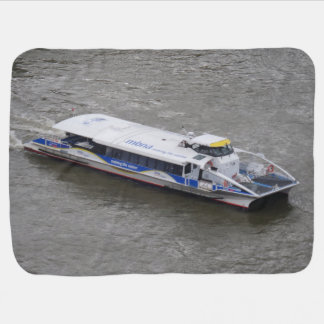 Cruise Boat on Thames Baby Blanket
