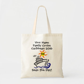 Cruise Budget Tote Bag - Seas the Day!
