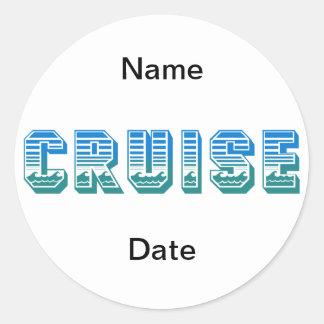 Cruise Classic Round Sticker