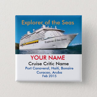 Cruise Critic Meet and Mingle Badge 2 Inch Square Button