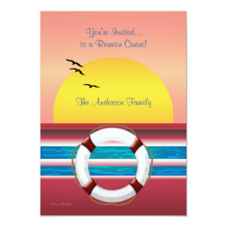 Cruise Family Reunion Invite - Sunset Design