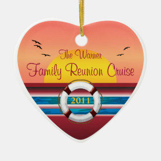 Cruise Family Reunion - Sunset  Template Ceramic Ornament