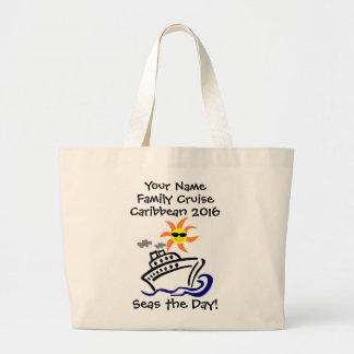 Cruise Jumbo Tote Bag - Seas the Day!