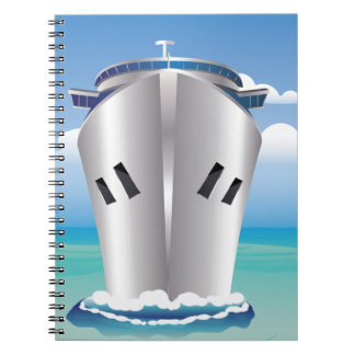 Cruise Liner in the Sea Spiral Notebook