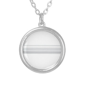 Cruise missile silver plated necklace