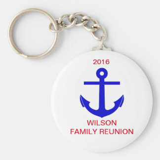 Cruise/Nautical Reunion (or Event) Basic Round Button Keychain