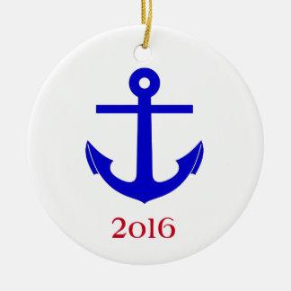Cruise/Nautical Reunion (or Event) Round Ceramic Ornament