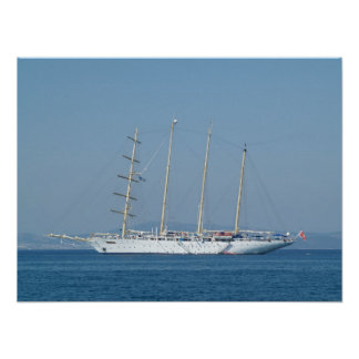 Cruise Sailing Boat Poster