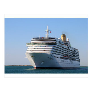 Cruise ship 17 postcard