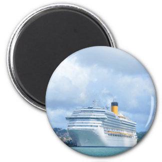 Cruise ship 2 inch round magnet