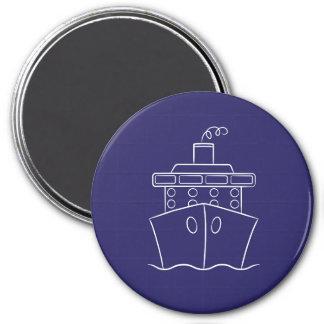 Cruise ship 3 inch round magnet