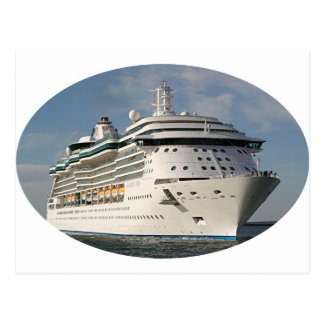 Cruise ship 3 (oval) postcard