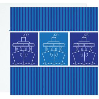"""Cruise ship 5.25"""" square invitation card"""
