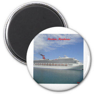 Cruise ship anchored in Roatan, Honduras Magnet