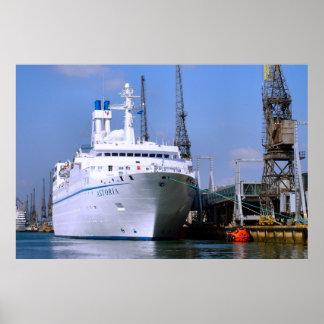 """Cruise ship """"Astoria"""", Southampton, England Poster"""