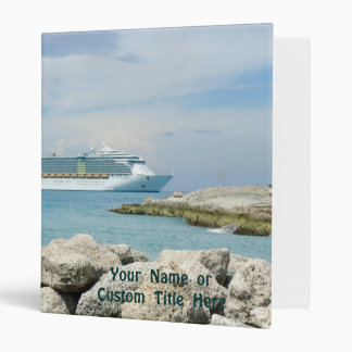 Cruise Ship at CocoCay 3 Ring Binder