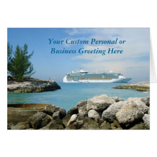 Cruise Ship at CocoCay Custom Card