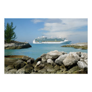 Cruise Ship at CocoCay Poster