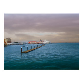 Cruise Ship At The Pier Print