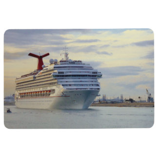 Cruise Ship at Twilight Floor Mat
