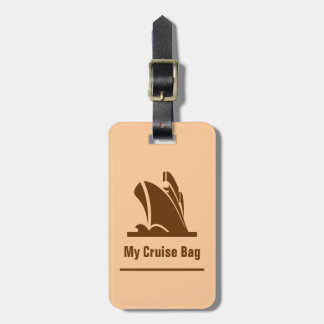 Cruise Ship Brown Luggage Tag