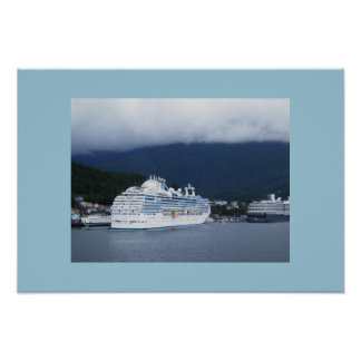 Cruise ship docked in Alaska Poster