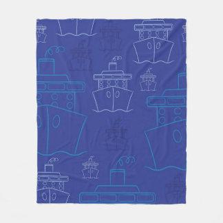 Cruise ship fleece blanket