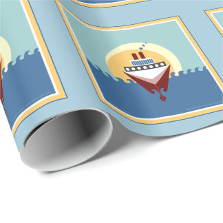 Cruise Ship Gift Wrapping Paper