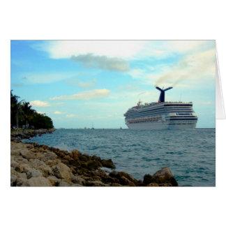 ~Cruise Ship~ GREETING CARD, CUSTOMIZE Card