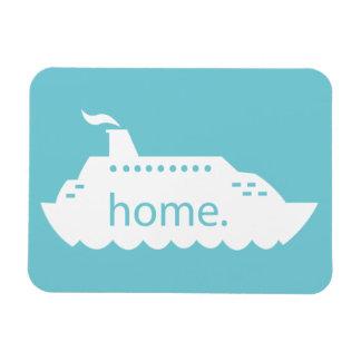 Cruise Ship Home - blue Magnet