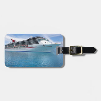 Cruise ship in Caribbean waters Luggage Tag