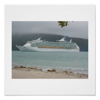 Cruise Ship in Haiti Poster