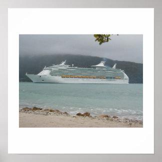 Cruise Ship in Haiti Poster