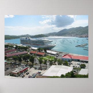 Cruise Ship in Port Print