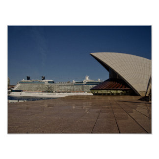 Cruise Ship In Sydney Poster