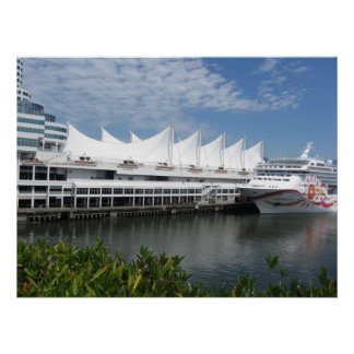 Cruise Ship in Vancouver, B.C. Canada Posters