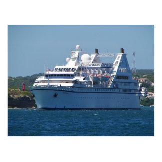 Cruise Ship Leaving Mahon Postcard