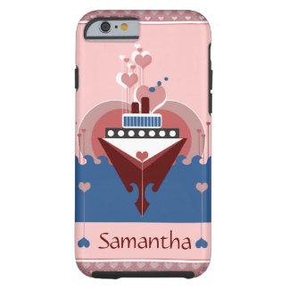 Cruise Ship Love Hearts iPhone 6 Case
