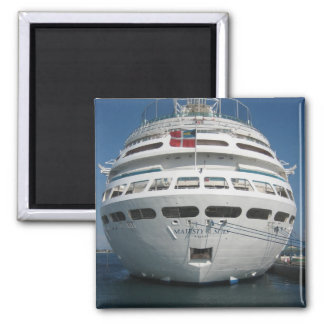 Cruise ship square magnet