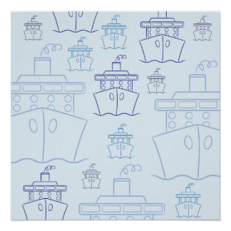 Cruise ship perfect poster